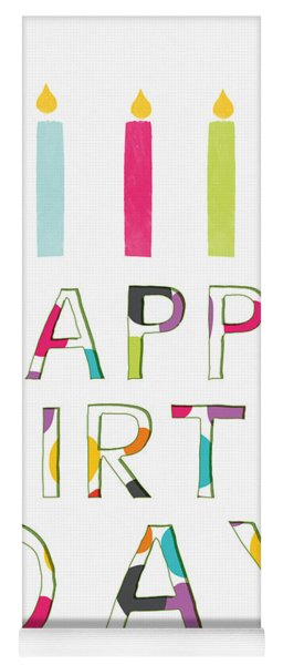 Birthday Candles- Art By Linda Woods Yoga Mat