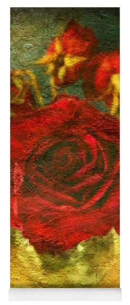 Birthday Roses Yoga Mat
