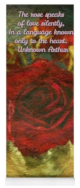 Birthday Roses With Poem  Yoga Mat