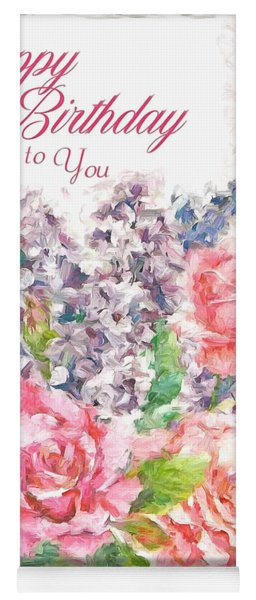 Birthday Wishes Yoga Mat