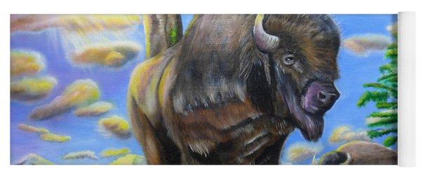 Bison Acrylic Painting Yoga Mat