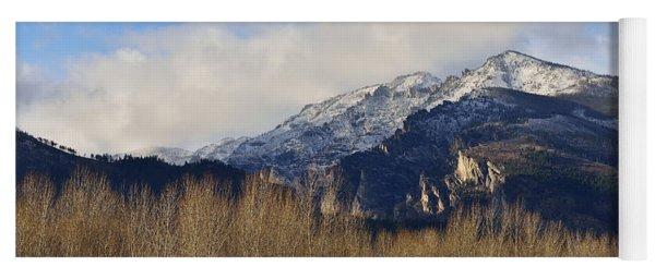 Bitterroot Mountain Peak  Yoga Mat
