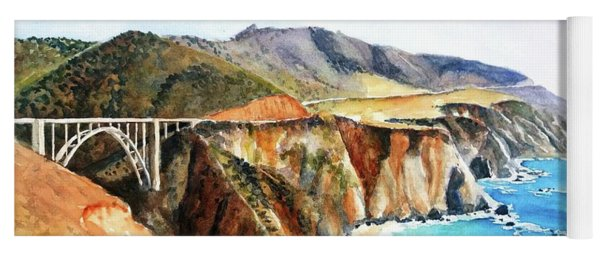 Bixby Bridge Big Sur Coast California Yoga Mat