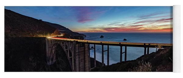Bixby Bridge Sunset Yoga Mat