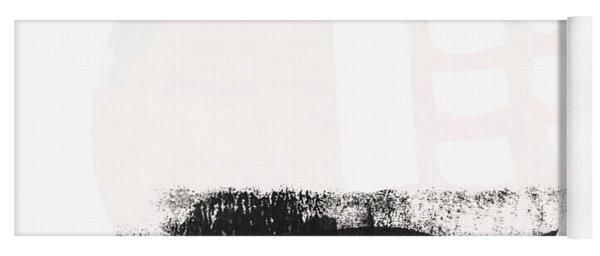 Black And Blush Abstract Circle 1-art By Linda Woods Yoga Mat