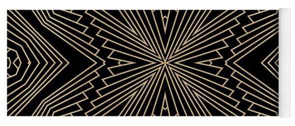 Black And Gold Art Deco Filigree 003 Yoga Mat