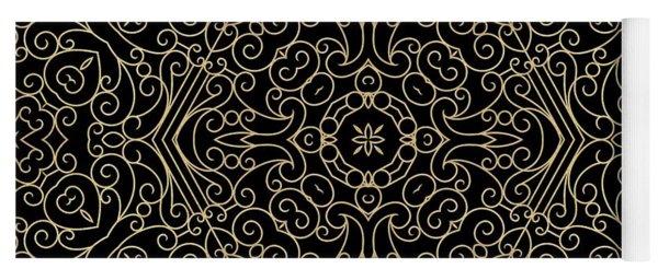 Black And Gold Filigree 002 Yoga Mat