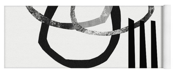 Black And White- Abstract Art Yoga Mat