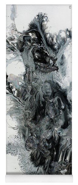 Black And White Abstract Painting  Yoga Mat