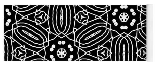 Black And White Boho Pattern 2- Art By Linda Woods Yoga Mat