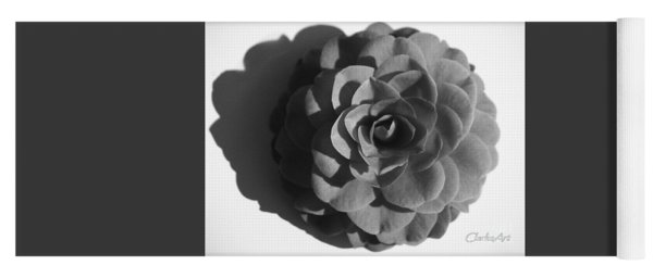 Camellia In Black And White Yoga Mat