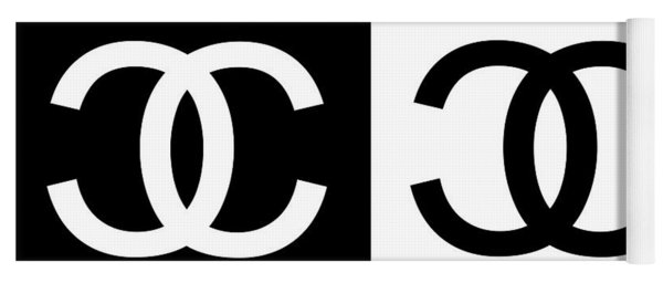 Black And White Chanel 2 Yoga Mat