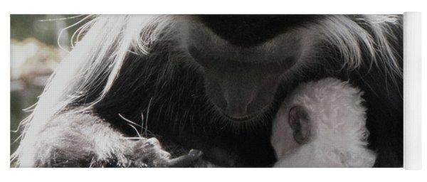 Black And White Image Of Colobus Monkeys Yoga Mat