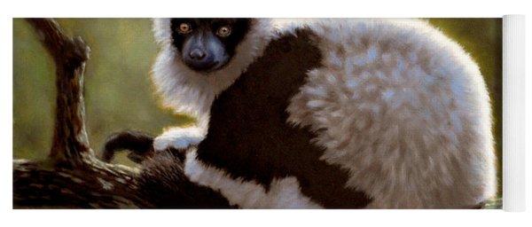 Black And White Ruffed Lemur Yoga Mat