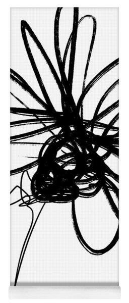 Black And White Sketch Flower 4- Art By Linda Woods Yoga Mat