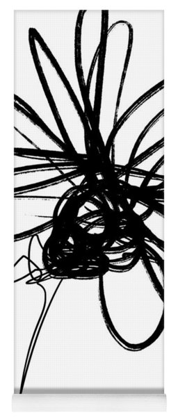 Black And White Sketch Flower 4- Art By Linda Woods Yoga Mat