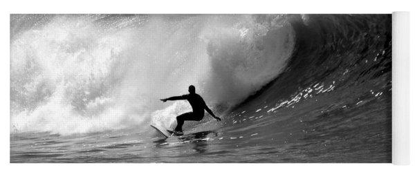 Black And White Surfer Yoga Mat