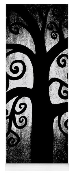 Black And White Tree Yoga Mat