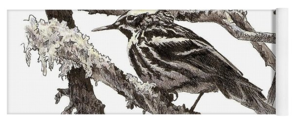 Black-and-white Warbler Yoga Mat