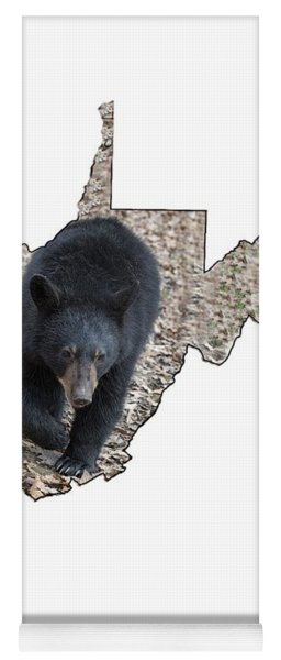 Yoga Mat featuring the photograph Black Bear Coming Close by Dan Friend