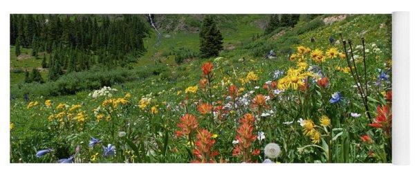 Yoga Mat featuring the photograph Black Bear Pass Landscape by Cascade Colors