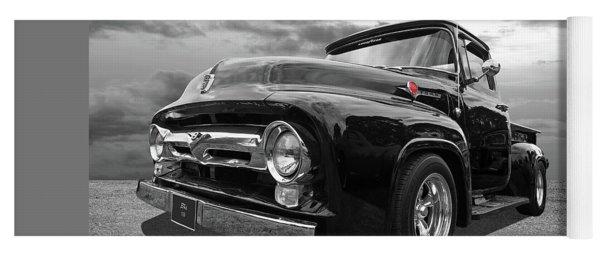 Black Beauty - 1956 Ford F100 Yoga Mat