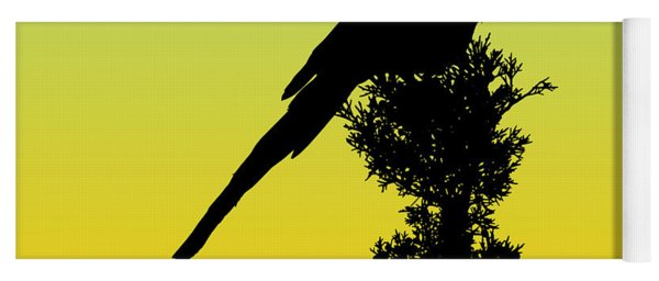 Black-billed Magpie Silhouette - Special Request Background Yoga Mat