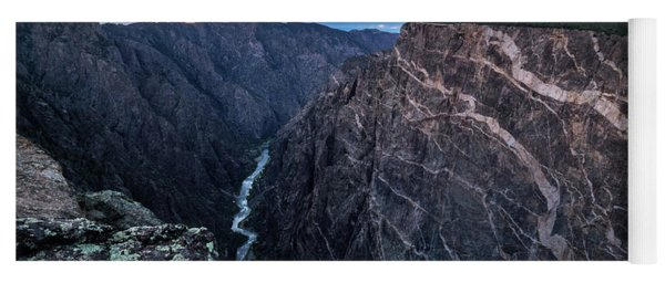 Yoga Mat featuring the photograph Black Canyon Of The Gunnison National Park by Nadja Rider
