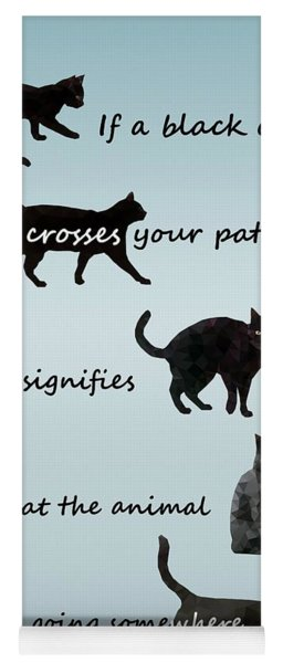 Black Cat Crossing Yoga Mat