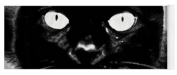 Black Cat Yoga Mat