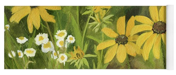 Black-eyed Susans In A Field Yoga Mat