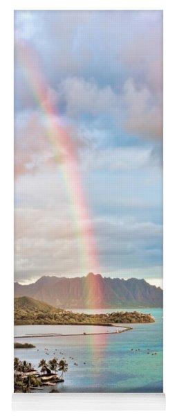 Black Friday Rainbow Yoga Mat