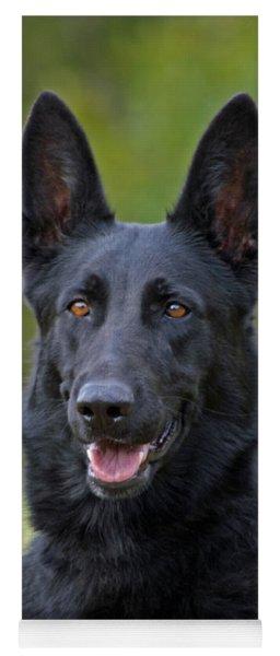 Black German Shepherd Dog Yoga Mat