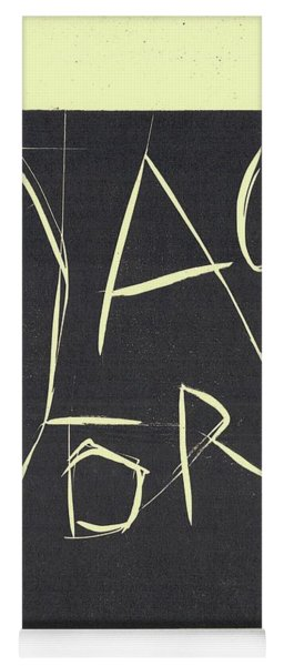 Black Ivory Title Page Yoga Mat