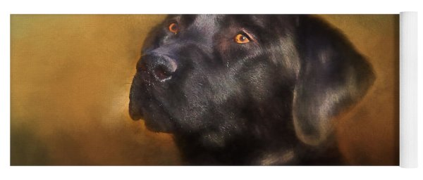 Black Lab Portrait 2 Yoga Mat
