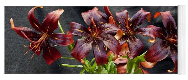 Black Lilies Yoga Mat