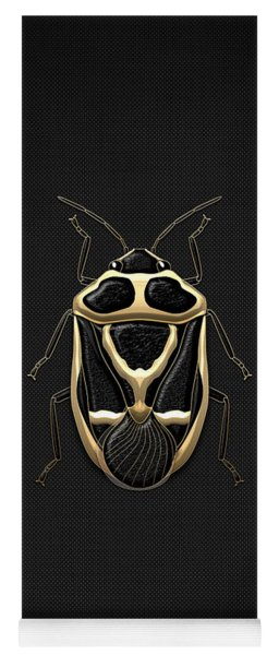 Black Shieldbug With Gold Accents  Yoga Mat