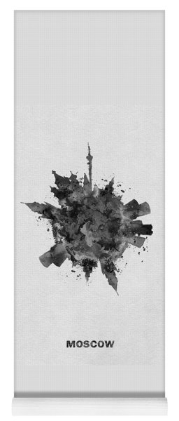 Black Skyround Art Of Moscow, Russia Yoga Mat