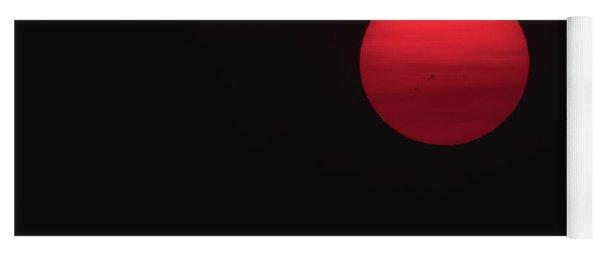 Black Sunrise Yoga Mat