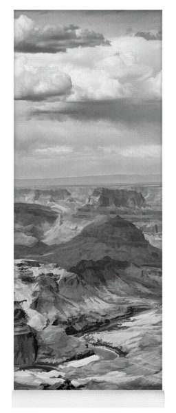 Black White Filter Grand Canyon  Yoga Mat