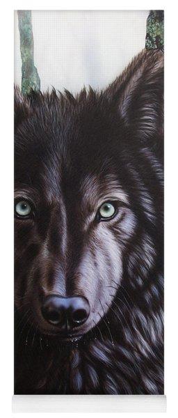 Black Wolf Yoga Mat