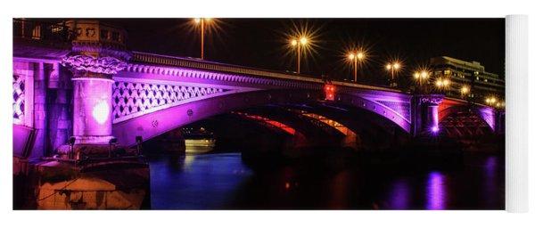 Blackfriars Bridge Illuminated In Purple Yoga Mat