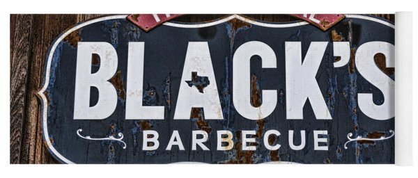 Blacks Barbecue Sign #1 Yoga Mat