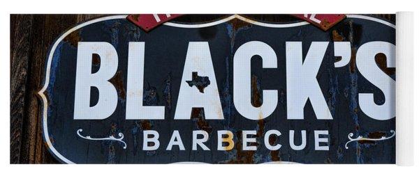 Blacks Barbecue Sign #2 Yoga Mat
