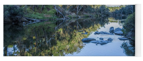 Blackwood River Rocks, Bridgetown, Western Australia Yoga Mat