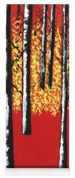 Blazing Birches Yoga Mat