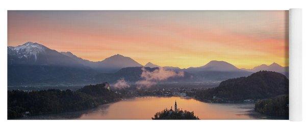 Bled Lake Sunrise View Yoga Mat