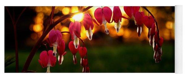 Bleeding Heart Sunset Yoga Mat