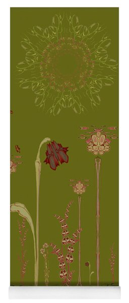 Blob Flower Garden Full View Yoga Mat