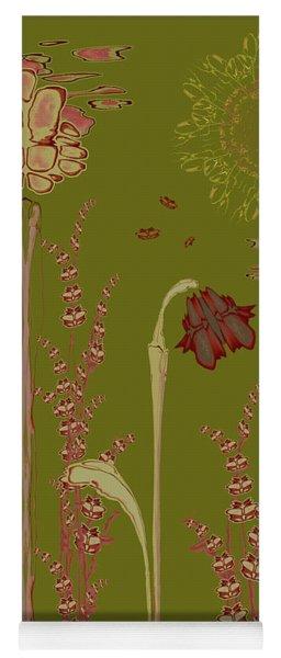 Blob Flower Garden Yoga Mat